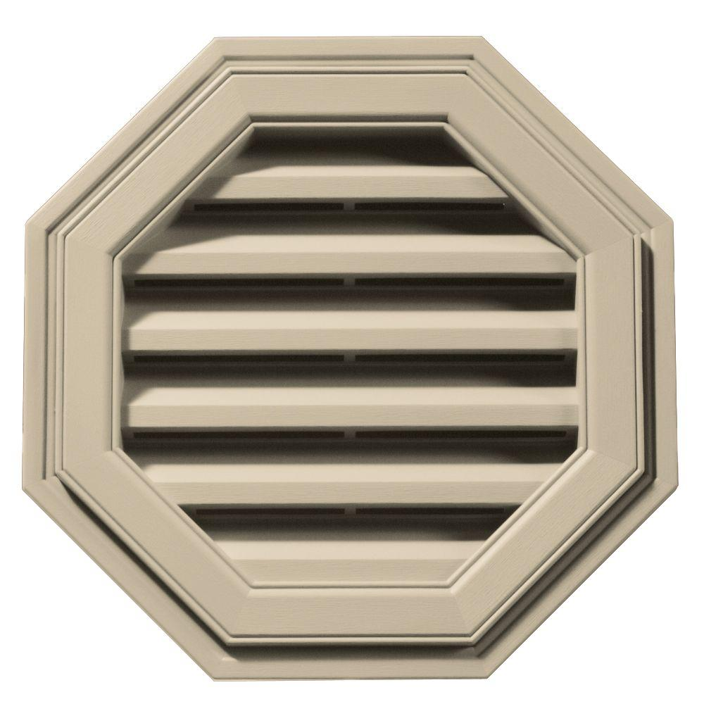 18 in. Octagon Gable Vent in Sandalwood