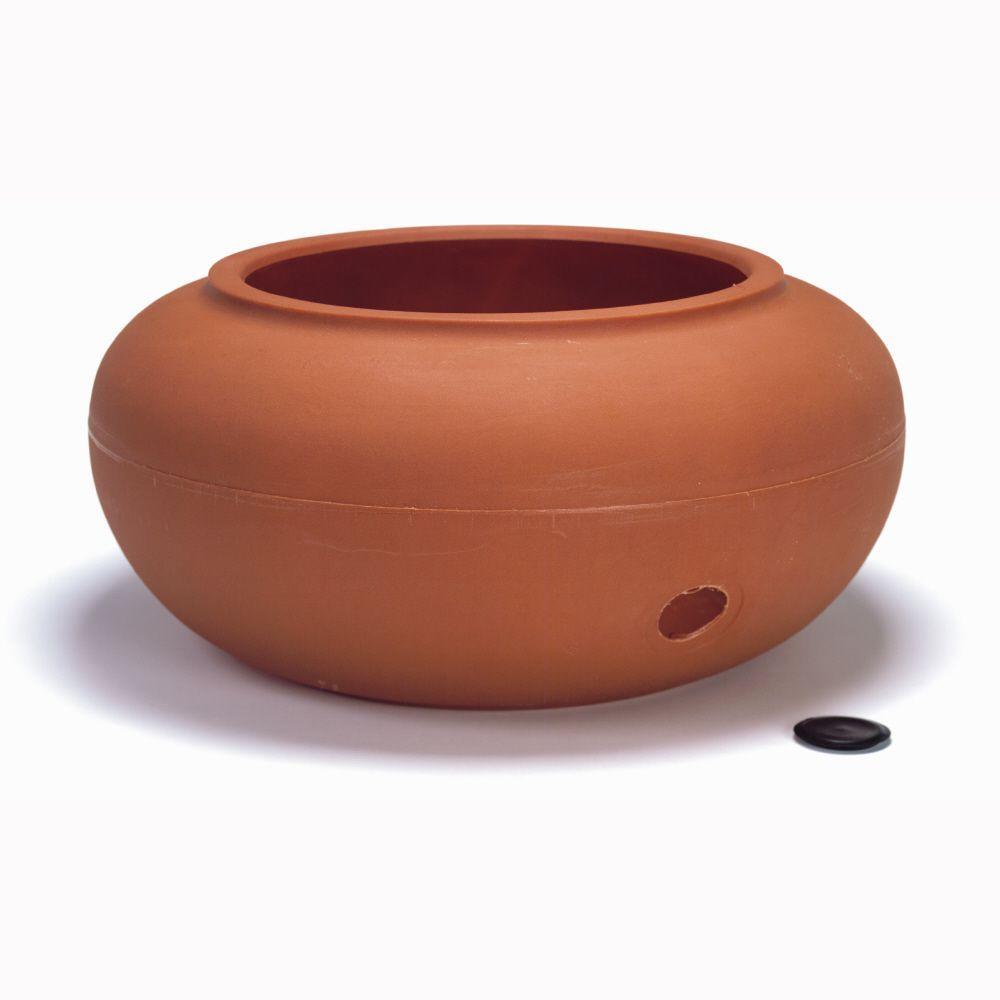Akro Mils Garden Hose Pot   Terra Cotta Plastic