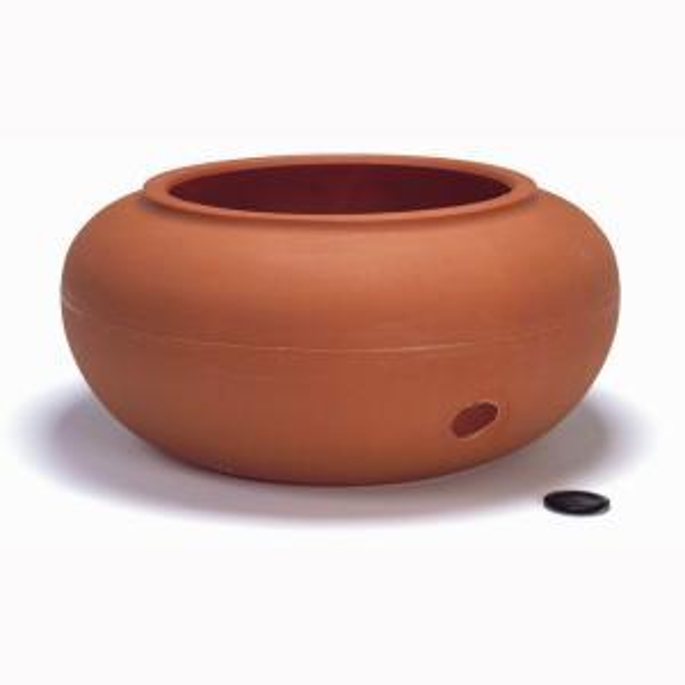 Akro-Mils Garden Hose Pot - Terra Cotta Plastic by Akro-Mils