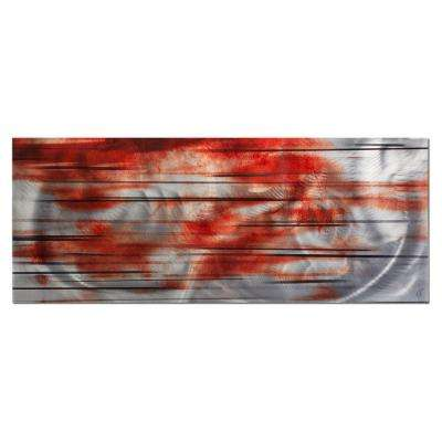 Brevium 19 in. x 48 in. Interlude Metal Wall Art