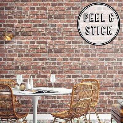 Transform Red Brick Peel and Stick Removable Wallpaper