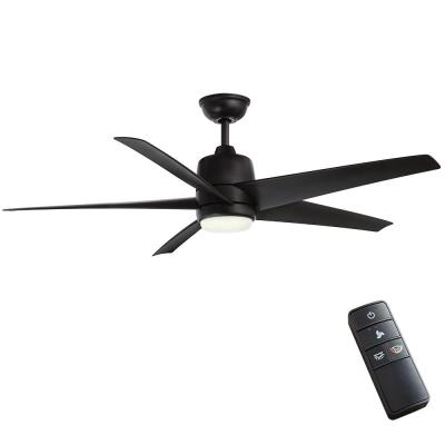 Mara 54 in. White Color Changing Integrated LED Indoor/Outdoor Matte Black Ceiling Fan with Light and Remote Control