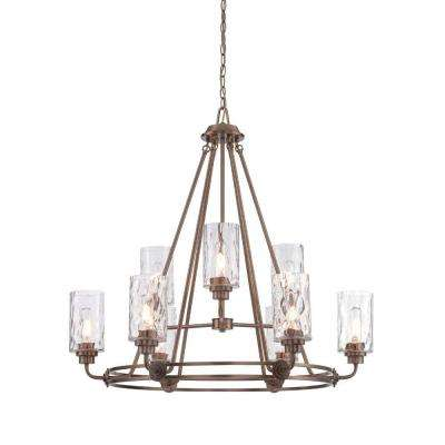 Gramercy Park 9-Light Old Satin Brass Interior Incandescent Chandelier