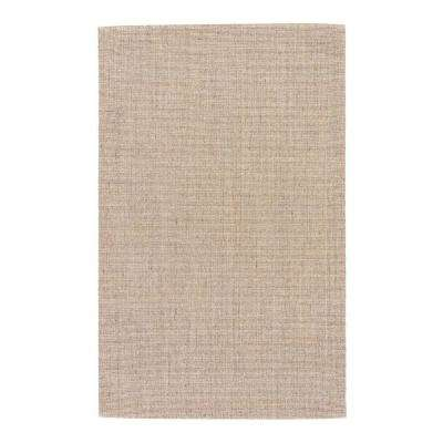 Natural Curry 5 ft. x 8 ft. Solid Area Rug