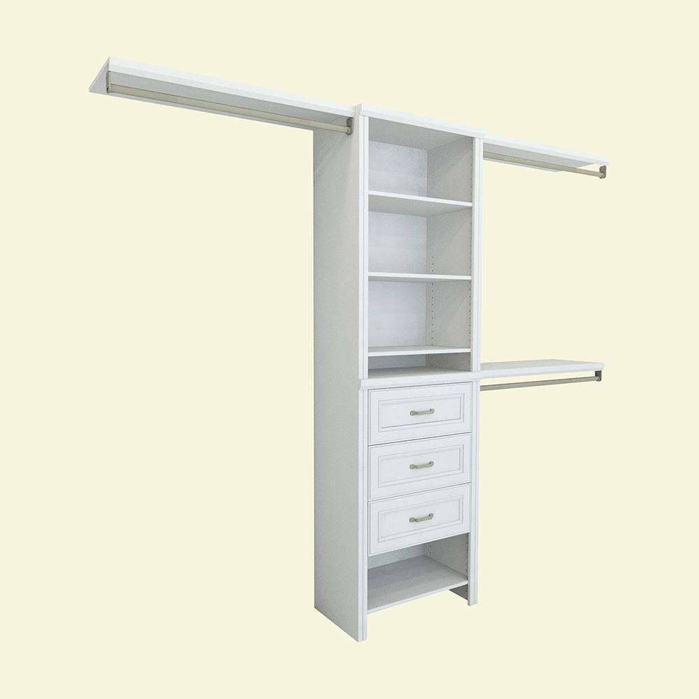 ClosetMaid Impressions 14.57 in. D x 120 in. W x 83 in. H White Laminate Basic Plus Closet System