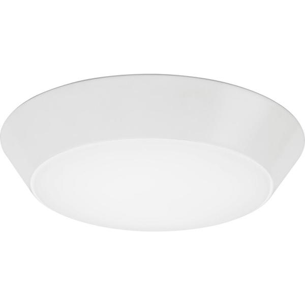Contractor Select Versi Lite Series 13 in. 4000K Cool White Integrated 2000 Lumen LED Round Flush Mount Fixture