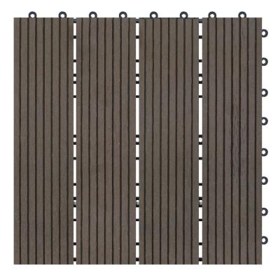 Terrace Collection 1 ft. x 1 ft. Bamboo Composite Deck Tile in Mocha (11 sq. ft. per Box)