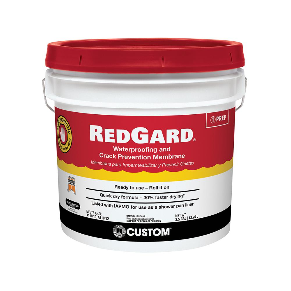Floor Waterproofing Products ~ Custom building products redgard gal waterproofing