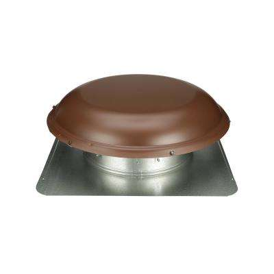 144 sq. in. NFA Galvanized Round-Top Roof Louver Static Vent in Brown (1 per Carton)