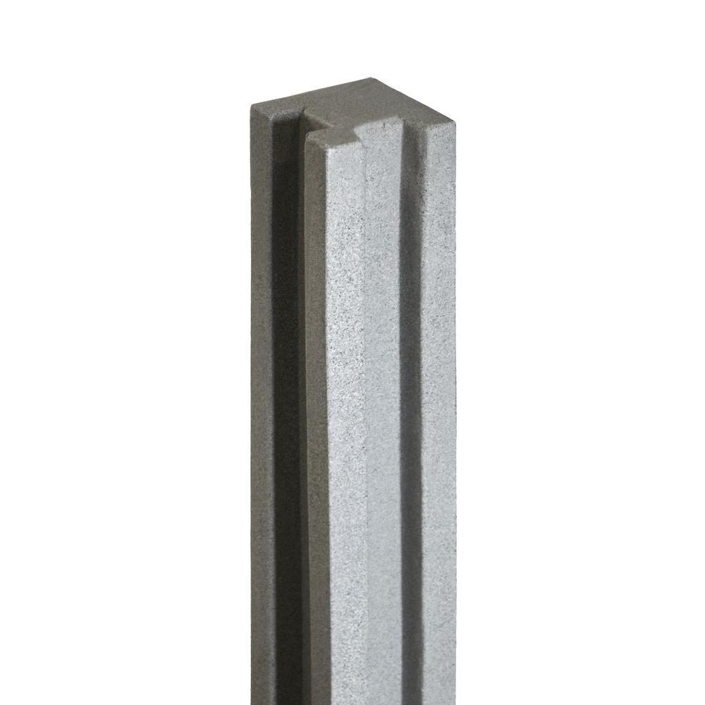 SimTek 5 in. x 5 in. x 8-1/2 ft. Gray Composite Fence Corner Post