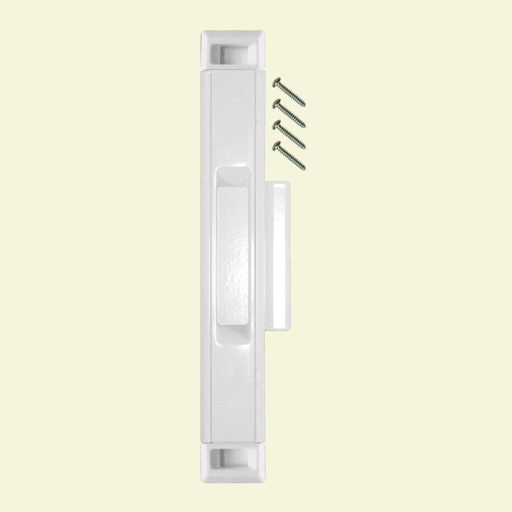 Lockit White Sliding Door Interlocking Latch 200400200 The Home Depot