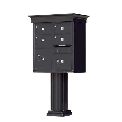 1570 Series 4 Large Mailboxes, 1 Outgoing, 2 Parcel Lockers, Vital Cluster Box Unit with Vogue Classic Accessories