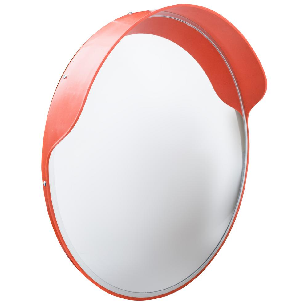 PRO-SERIES 24 in. Round Convex Safety Mirror with Shatter Resistant Lens for Indoor or Outdoor Use