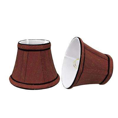 5 in. x 4 in. Rust and Black Accent Bell Lamp Shade (2-Pack)