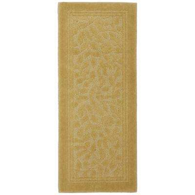 Wellington 24 in. x 60 in. Nylon Bath Runner in Gold