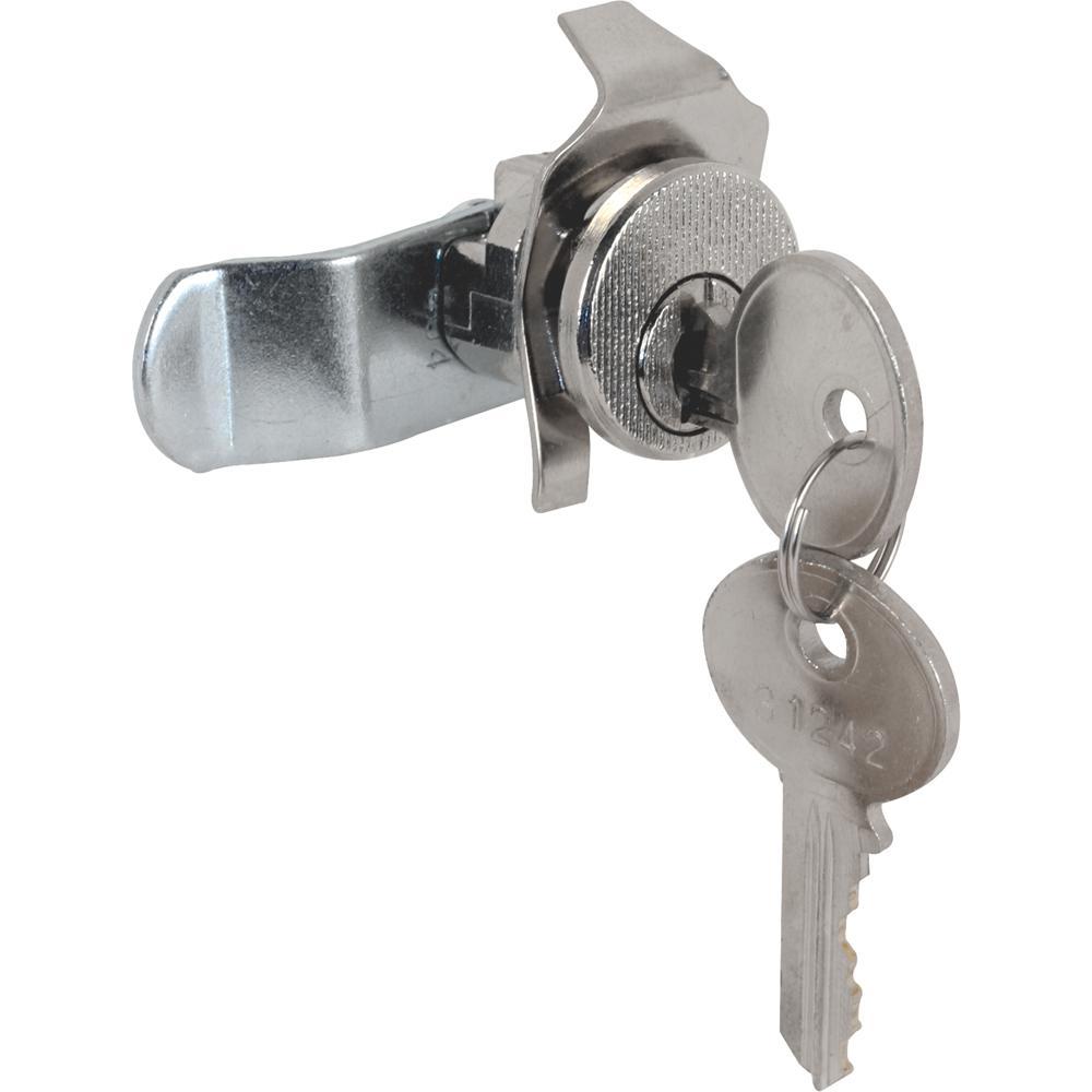 Prime-Line 5-Pin Tumbler Diecast Nickel-Plated Mailbox Lock