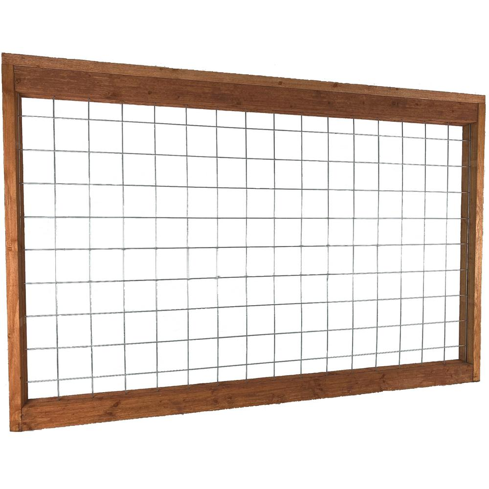 4 Ft X 6 Ft Madison Park Panel Hog Fence Madpark The Home Depot