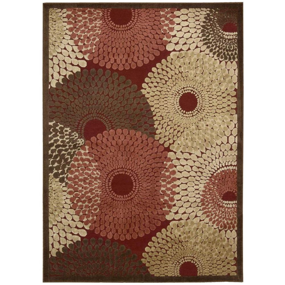 Nourison Graphic Illusions Red 3 ft. 6 in. x 5 ft. 6 in. Area Rug