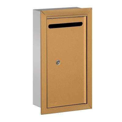 2260 Series Brass Slim Recessed-Mounted Private Letter Box with Commercial Lock