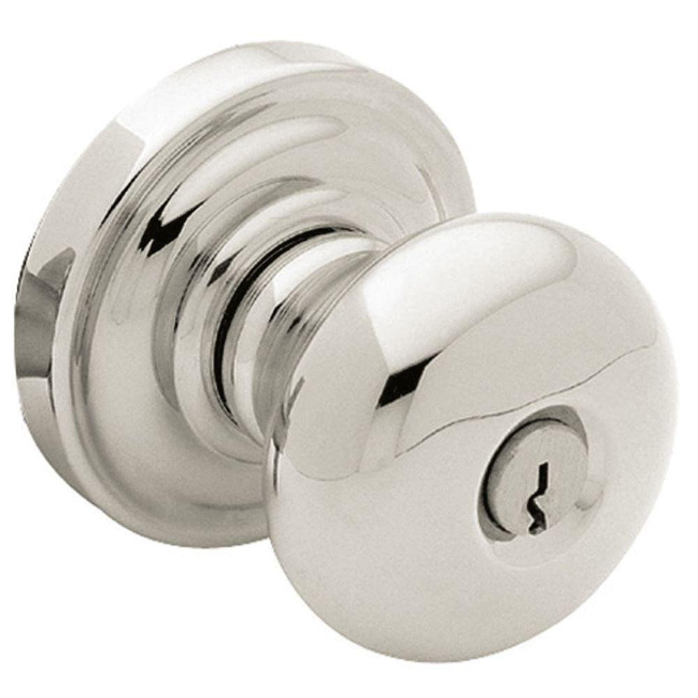 Baldwin Classic Lifetime Polished Nickel Entry Knob 5208.055.ENTR   The  Home Depot