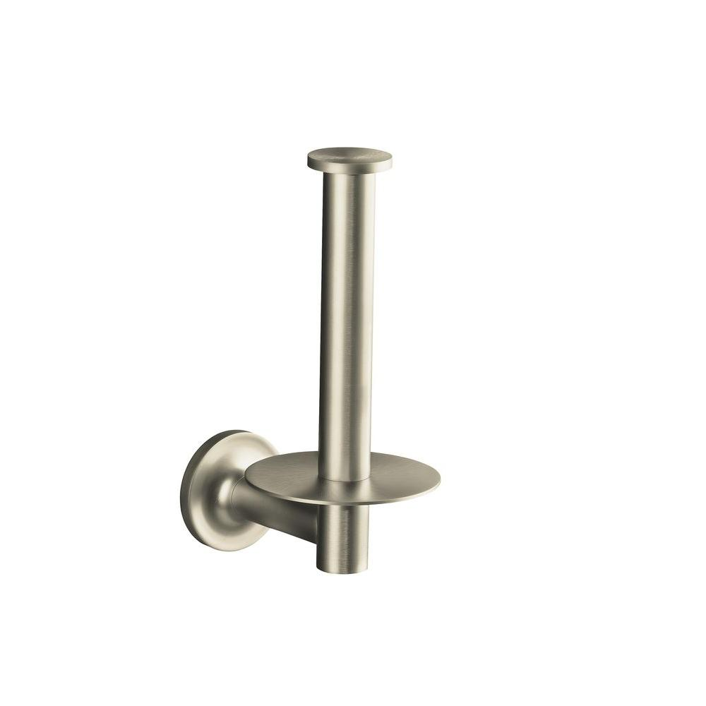 purist recessed toilet paper holder in vibrant brushed nickel