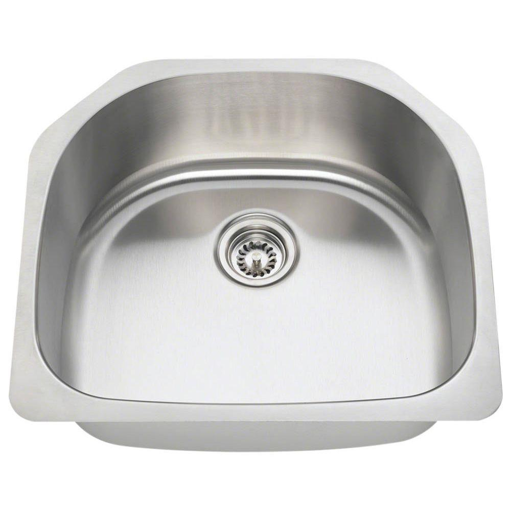 undermount stainless kitchen sinks polaris sinks undermount stainless steel 24 in single 6604