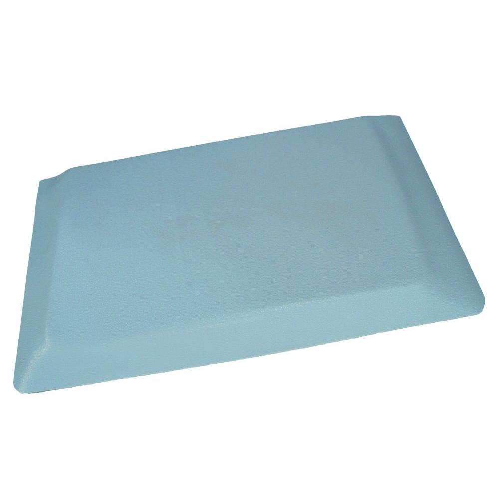 Rhino Anti-Fatigue Mats Hide Double Sponge Pebble Brushed Grey Surface 24  in  x 96 in  Vinyl Kitchen Mat