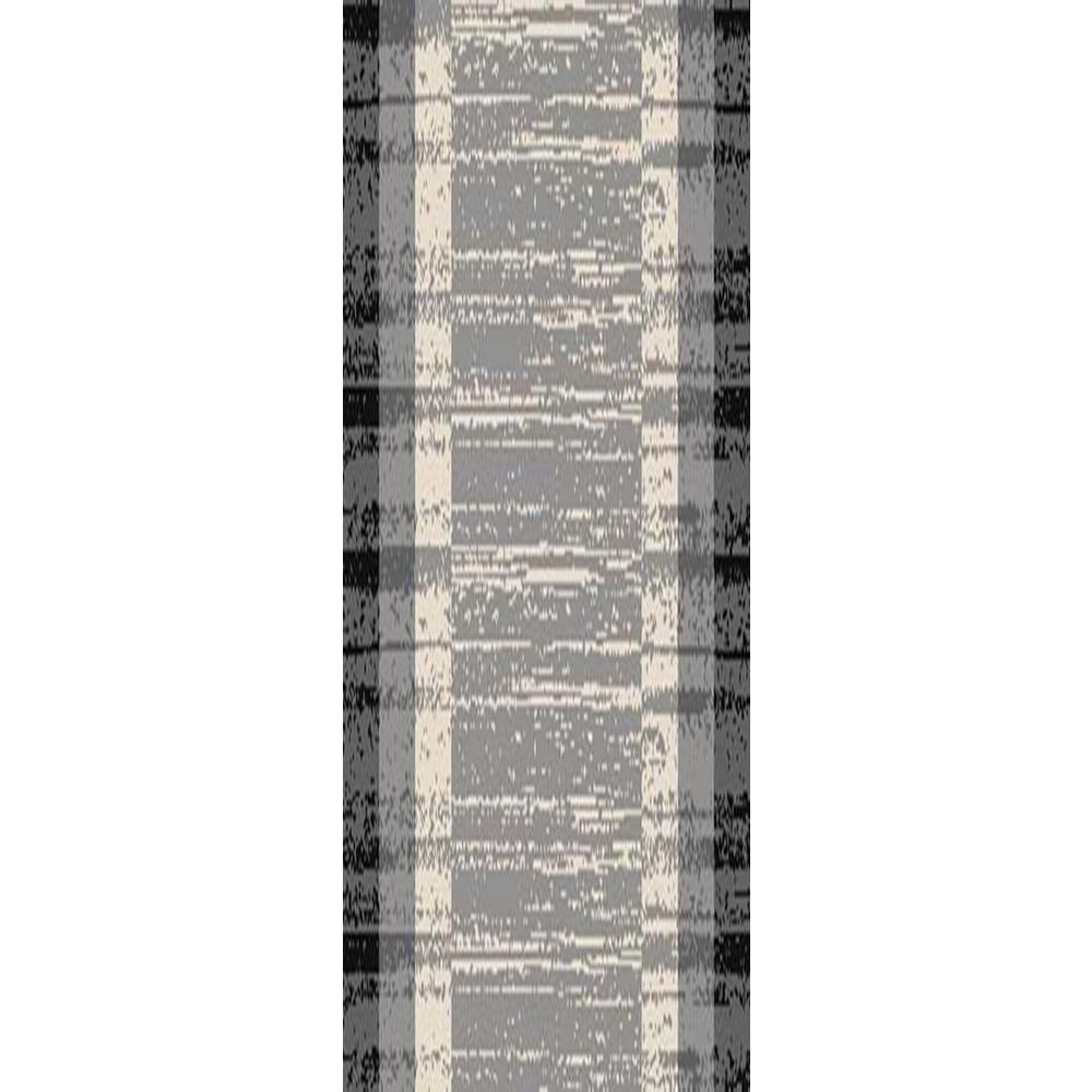 MAXY HOME Hamam Collection Grey 2 ft. x 5 ft. Runner Rug