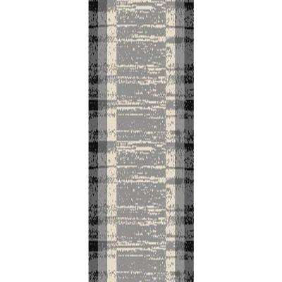 Hamam Collection Grey 3 ft. x 10 ft. Runner Rug