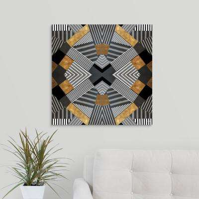 """Geo Stripes in Gold and Black I"" by  Lanie Loreth Canvas Wall Art"