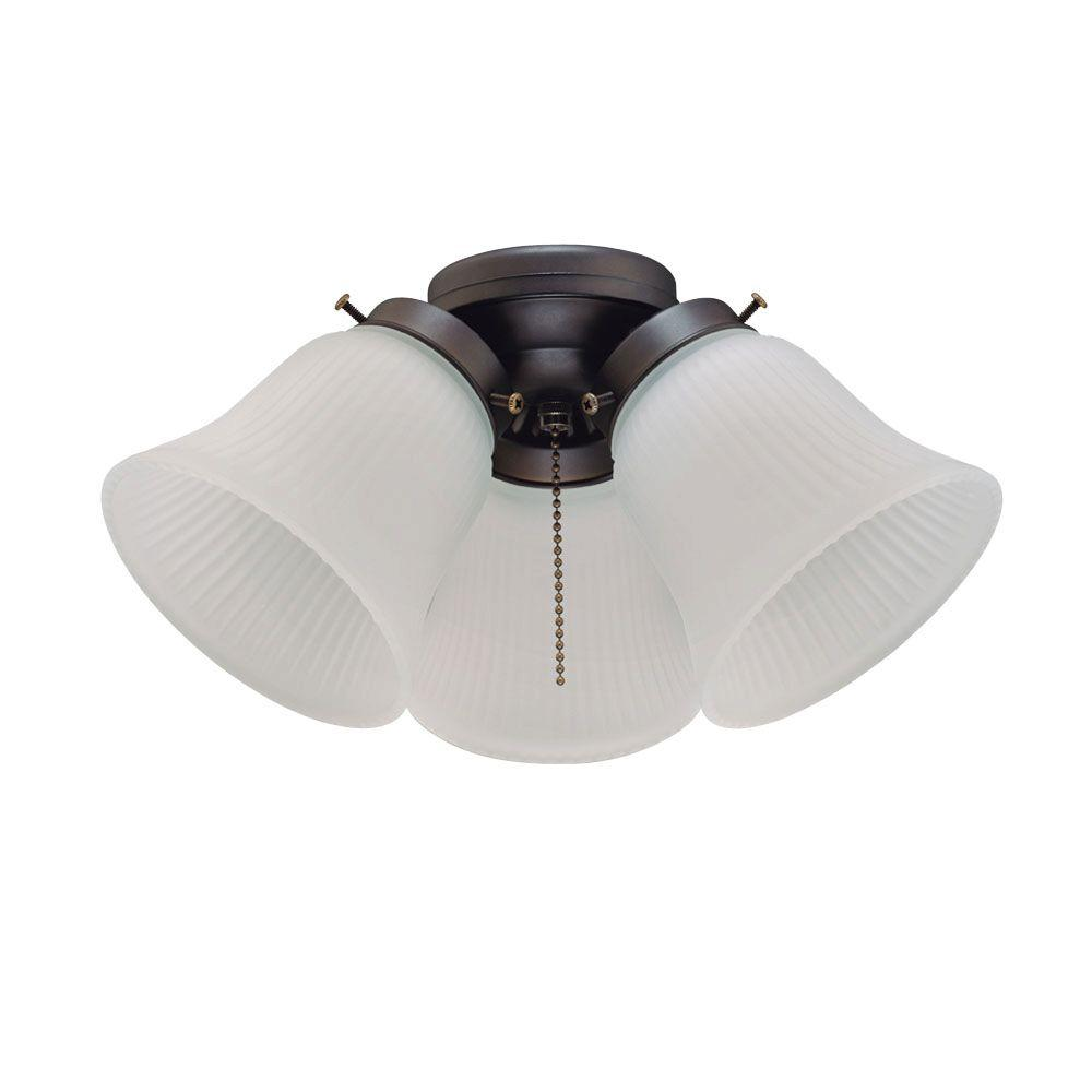 Westinghouse 3 Light Oil Rubbed Bronze Ceiling Fan Light
