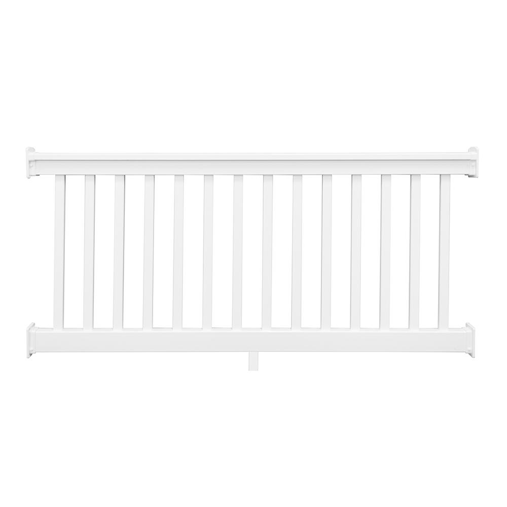 Weatherables Riviera 3 ft. H x 6 ft. W White Vinyl Railing Kit