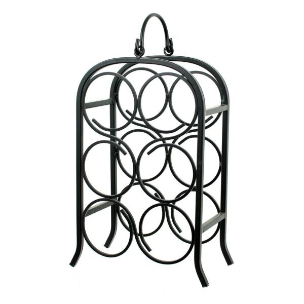 Oenophilia Wine Arch 6-Bottle Black Rack 010035