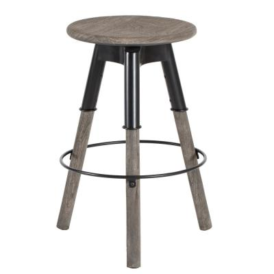 Estelle 30 in. Grey Wash Bar Stool