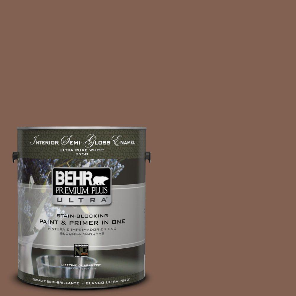 1 gal. #HDC-SP14-6 Tilled Earth Semi-Gloss Enamel Interior Paint