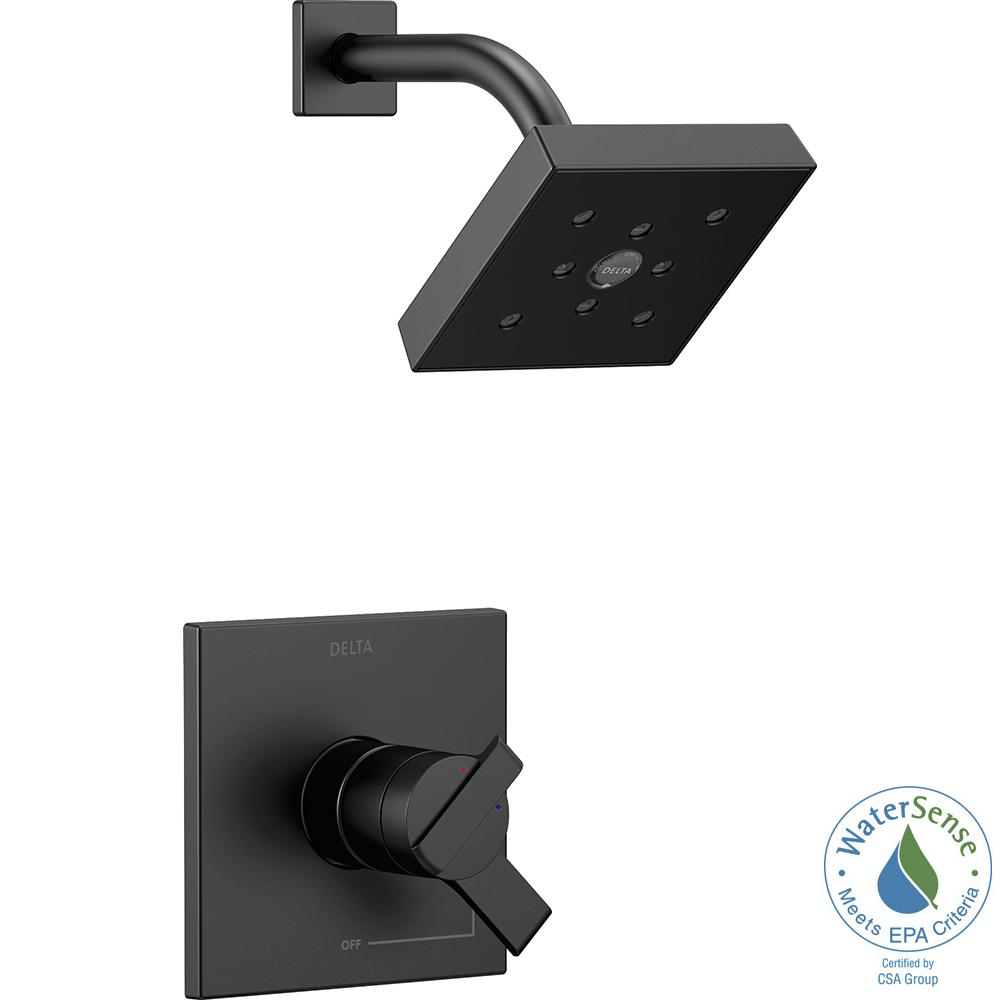 Ara 1-Handle Wall Mount Shower Trim Kit with H2Okinetic in Matte