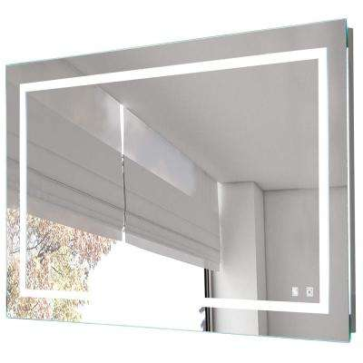28 in. x 36 in. LED Lighted Bathroom Wall Mounted Frameless Mirror