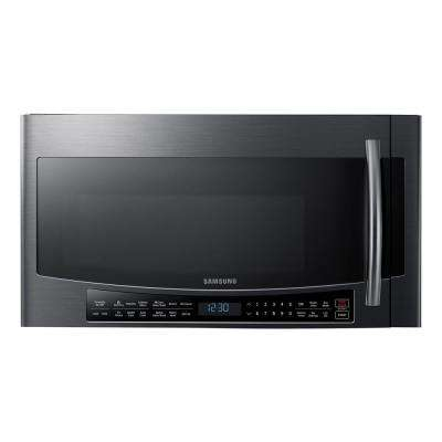 30 in. 1.7 cu. ft. Over the Range Convection Microwave in Black Stainless Steel with Sensor Cooking