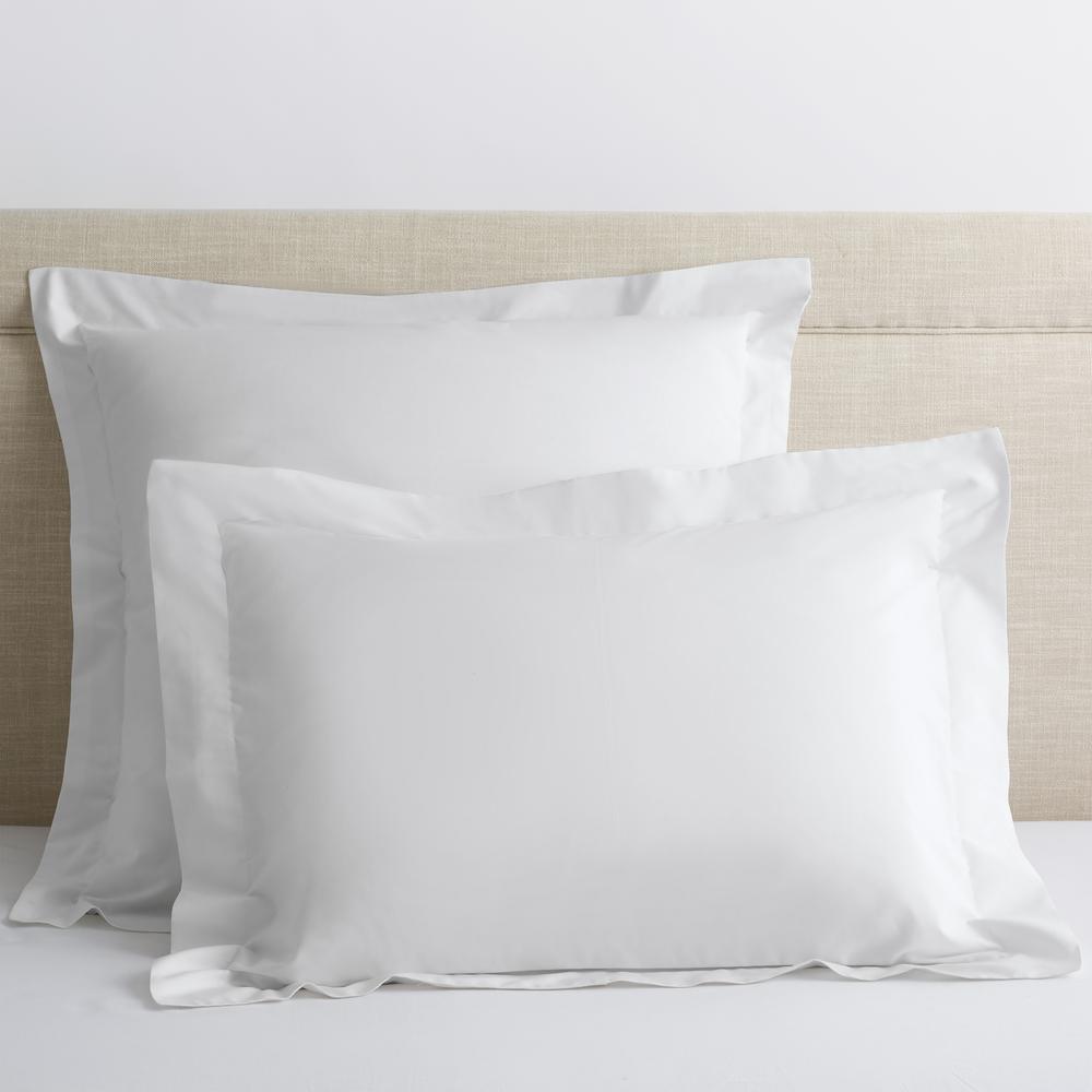 Organic White Solid 300-Thread Count Cotton Percale Euro Sham