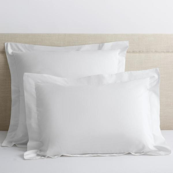 Organic White Solid 300-Thread Count Cotton Percale King Sham