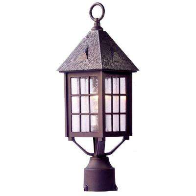 Outer Banks 1-Light Architectural Bronze Outdoor Post-Mount Light Fixture
