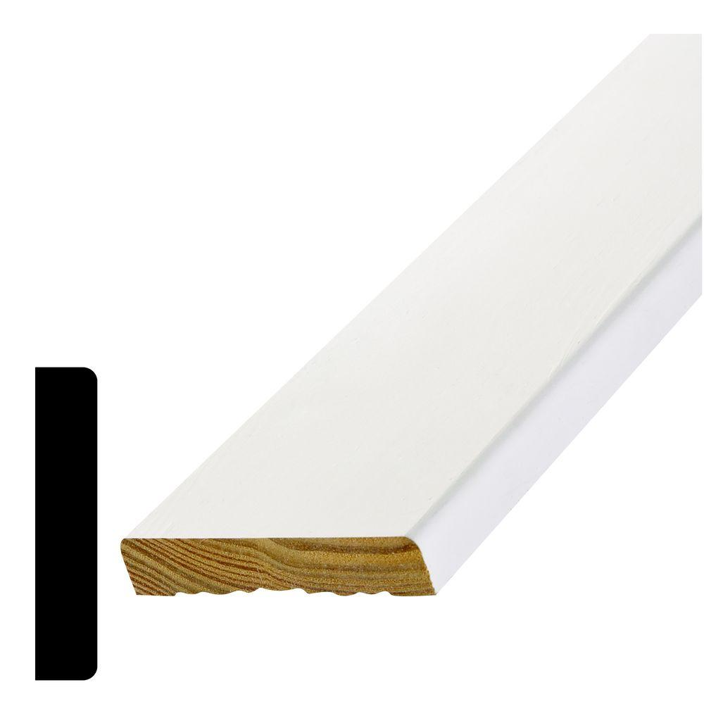 Alexandria Moulding 11/16 in. x 3-1/2 in. Primed Pine Finger-Jointed Casing