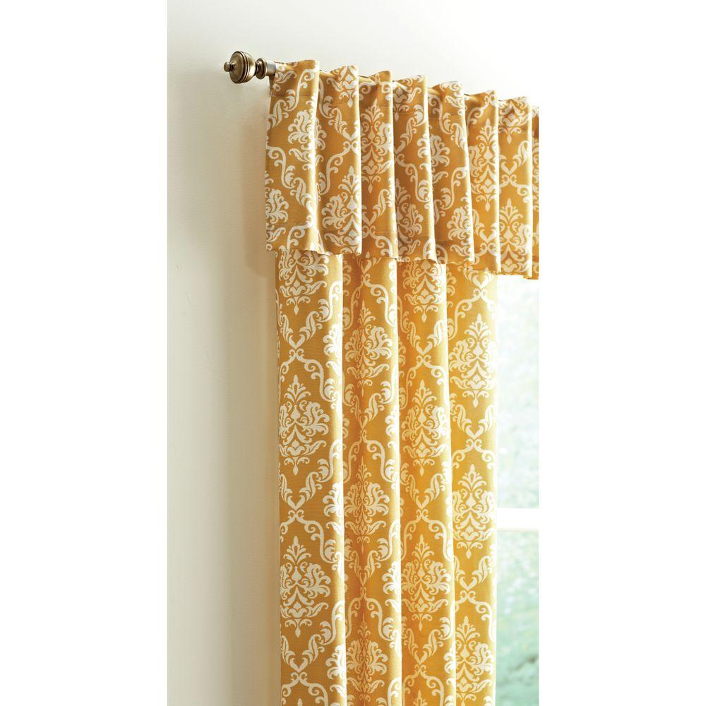 15 in. L Polyester and Cotton Valance in Gold