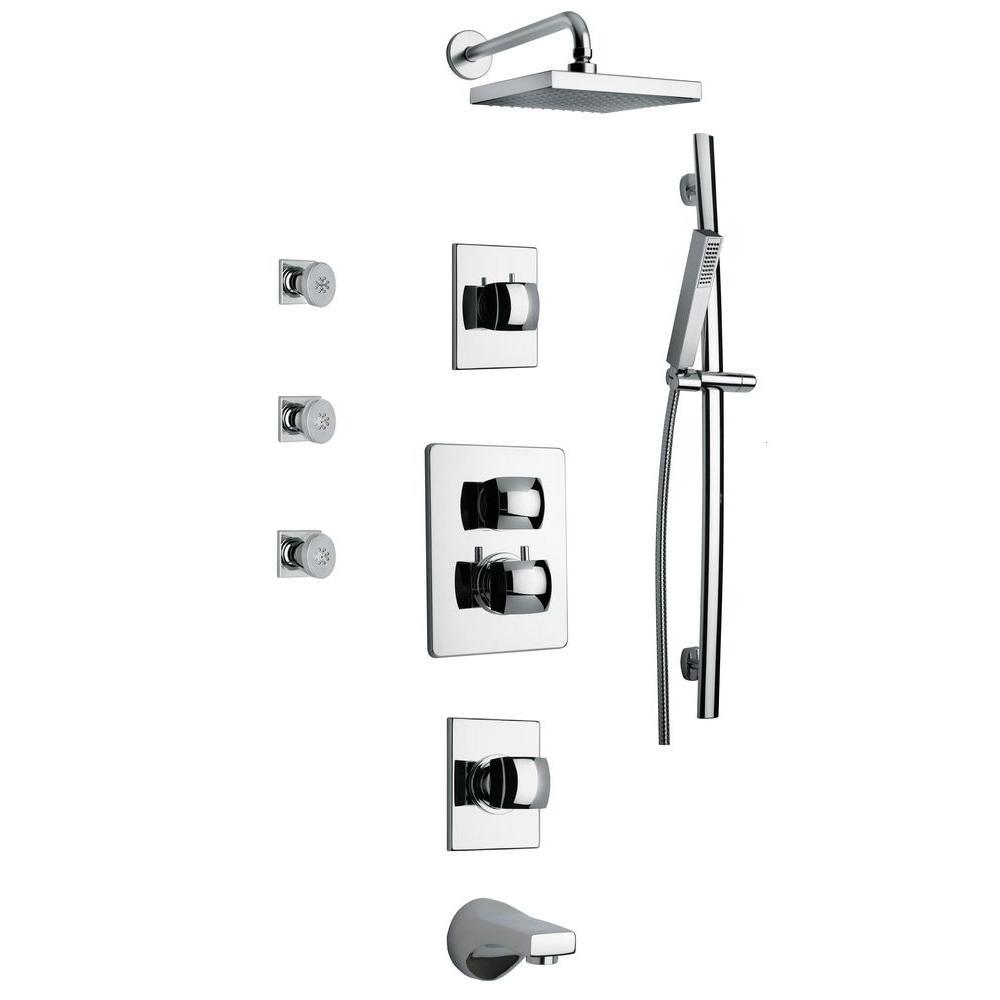 LaToscana Lady Shower Combo 8 in Chrome
