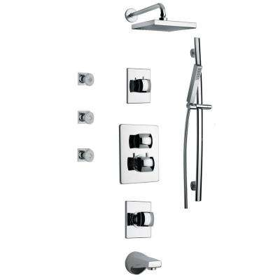 Lady Shower Combo 8 in Chrome
