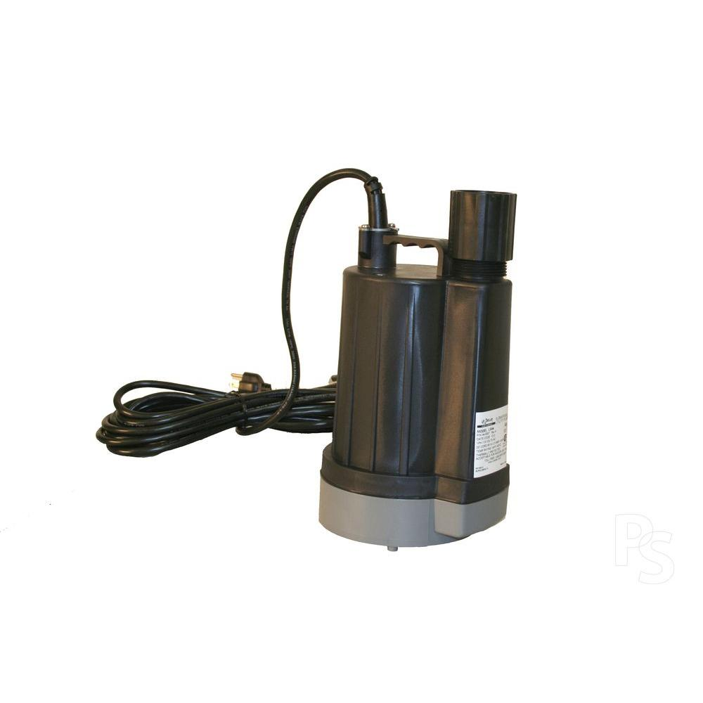 Zoeller LM44 .25 HP Floor Sucker Automatic Dewatering Submersible Utility Pump with Sensor 20 ft. Cord-DISCONTINUED