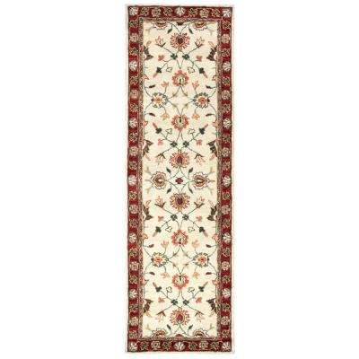 Valintino Beige Border 3 ft. x 8 ft. Runner Rug