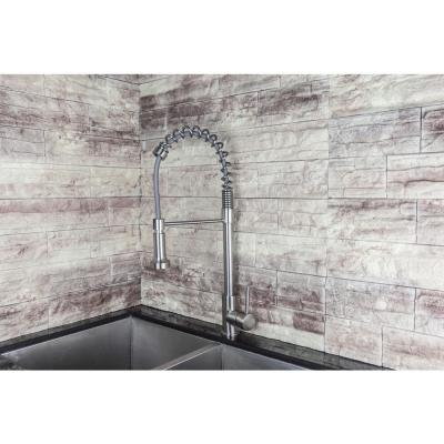 Luxurious Single-Handle Pull-Out Sprayer Kitchen Faucet in Brushed Nickel