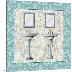 Greatbigcanvas Lacey Sink Ii By Diane Stimson Canvas Wall Art 2504896 24 16x16 The Home Depot