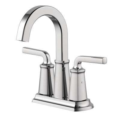 Chesapeake 4 in. Centerset 2-Handle Bathroom Faucet with Pop-Up Drain Assembly in Polished Chrome